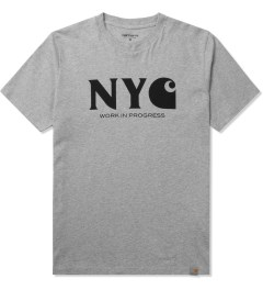 Carhartt WORK IN PROGRESS Heather Grey/Black S/S New York T-Shirt Picutre