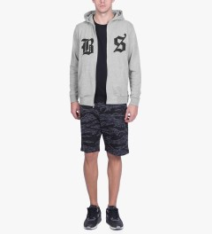 Undefeated Heather Grey BS Zip Hoodie Model Picutre