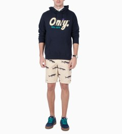 ONLY Navy Crown Logo Pullover Hoodie Model Picutre