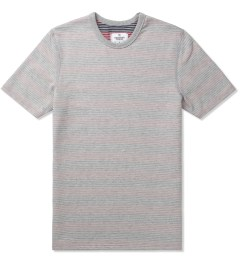 Reigning Champ Multi Stripe RC-1028-6 Knit Stripe Lightweight Terry S/S Crewneck T-Shirt Picutre