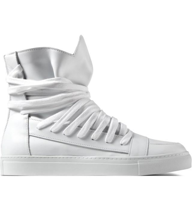White Multi Laces Sneakers