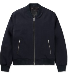 MKI BLACK Navy Sweatshirt Bomber Jacket Picutre