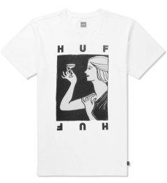 HUF White Cheers T-Shirt Picutre