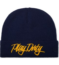 Undefeated Navy Play Dirty New Era Beanie Picutre