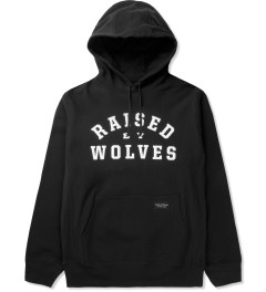 Raised by Wolves Black College Pullover Hoodie Picutre