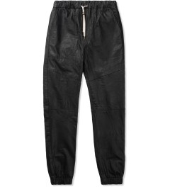 ZANEROBE Black Sureshot Leather Pant Picutre