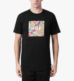 HUF Black Box Logo Fill Waikiki T-Shirt Model Picutre