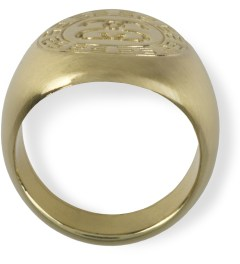 Stussy Gold Greek Ring Model Picutre