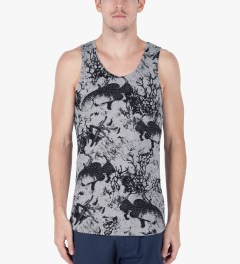 ONLY Heather Grey Under The Sea Tank Top Model Picutre