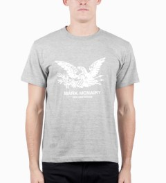 Mark McNairy for Heather Grey Wall Grey Eagle Print T-shirt Model Picutre