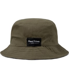 Grand Scheme Green Oiled Canvas Bucket Hat Picutre