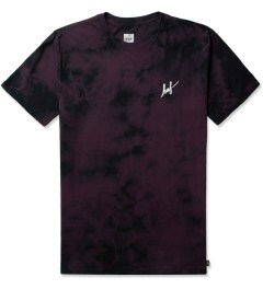 HUF Purple Crystal Wash Small Script S/S T-Shirt Picutre
