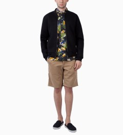 Stussy Black Paradise Shirt Model Picutre