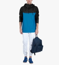 RAINS Black/Sky Blue Anorak Jacket Model Picutre