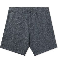 Jiberish Navy Boucle Shorts Picutre