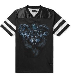 Raised by Wolves Black Wolfpack Football Jersey Picutre