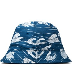 10.Deep Blue Thompson Fisherman Bucket Hat Model Picutre
