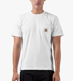 Carhartt WORK IN PROGRESS White S/S Pocket T-Shirt Model Picutre