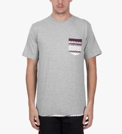 Stussy Heather Grey Dot Tom Pocket T-Shirt Model Picutre