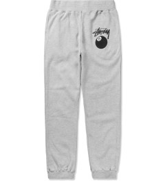 Stussy Heather Grey 8 Ball Sweatpants Picutre
