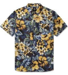 Stussy Black Island Flower Shirt Picutre