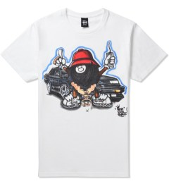 Stussy White Phade 8 Ball Man T-Shirt Picutre