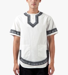10.Deep White DVSN Dashiki Shirt Model Picutre