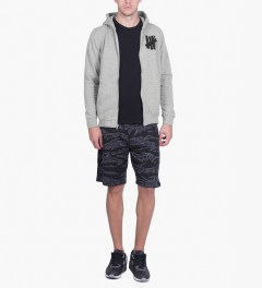 Undefeated Heather Grey 5 Strike Basic Zip Hoodie Model Picutre