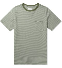 SATURDAYS Surf NYC Olive Drab Randall Beach Stripe T-Shirt Picutre