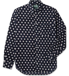 Gitman Bros. Vintage Navy Daisy Cord Vintage Button Down Shirt Picutre