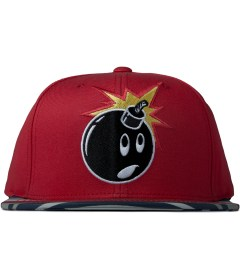 The Hundreds Red Adam Snapback Picutre
