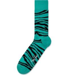 Happy Socks Turquoise Zebra Socks Picutre