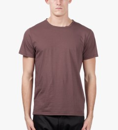 A.P.C. Brown Down T-Shirt Model Picutre