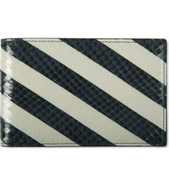 Raf Simons Dark Green/White Bias Stripe Print Wallet Picutre
