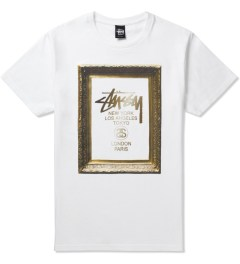 Stussy White World Tour Frame T-Shirt Picutre