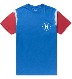 HUF Royal Blue/Red 12 Galaxy Sleeve Wash T-Shirt Picutre