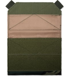 Stussy Olive Camo Field Wallet Model Picutre