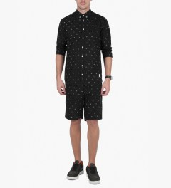 Libertine-Libertine Black/White Ocean Shorts Model Picutre