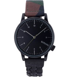 KOMONO M81/WOVEN BLACK WINSTON GALORE WATCH Picutre