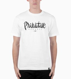 Primitive White Chalet T-Shirt Model Picutre