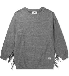 U.S. Alteration Grey AS14 Long Sleeve Fringe Sweater Picutre