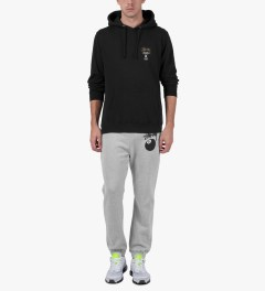 Stussy Heather Grey 8 Ball Sweatpants Model Picutre