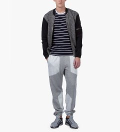 Shades of Grey by Micah Cohen Blackboard/Black Fleece & Nylon Baseball Jacket Model Picutre
