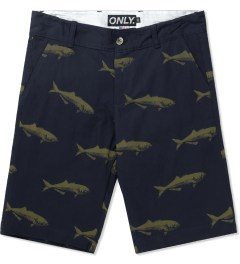 ONLY Navy Bluefish Chino Shorts Picutre