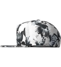 HUF White Floral Box Logo Snapback Cap Model Picutre