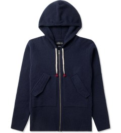 Commune De Paris Navy Louvre Zip Hoodie Picutre