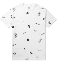 HUF White Kiss Blow Roll S/S T-Shirt Picutre