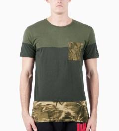 ZANEROBE Petrol Prism T-Shirt Model Picutre