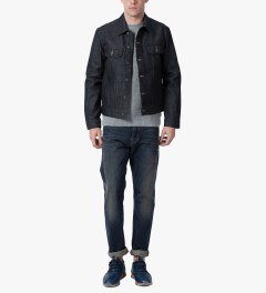 A.P.C. Indigo Veste Jean Us Jacket Model Picutre