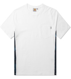 Carhartt WORK IN PROGRESS White/Night Print/Monsoon S/S Glan T-Shirt Picutre